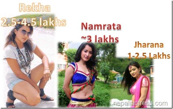 actress rates - rekha jharana namrata