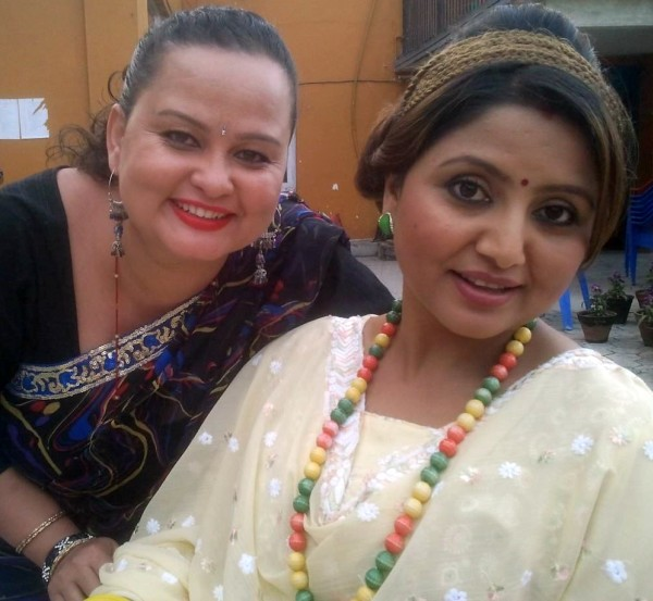 anshu maharjan with deepashree niraula