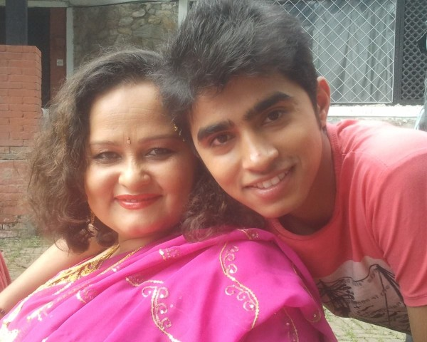 anshu maharjan with raj acharya