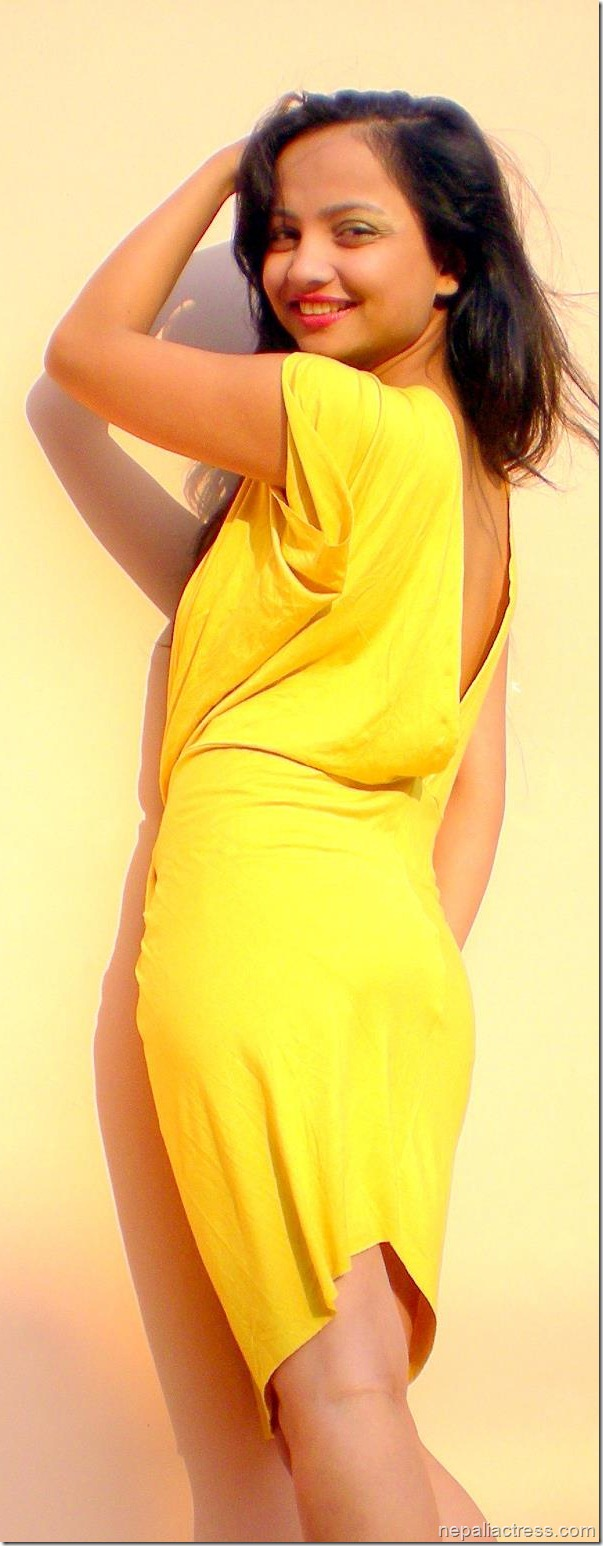 namrata Sapkota hot yellow
