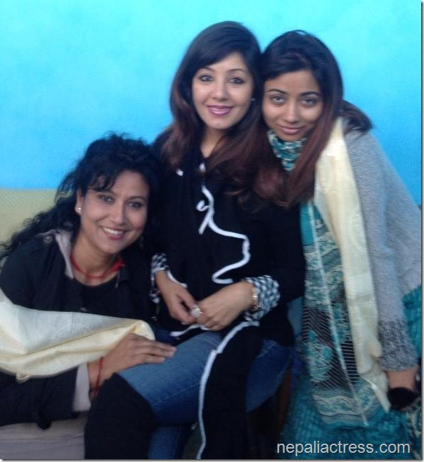 Karishma with komal oli and binita baral