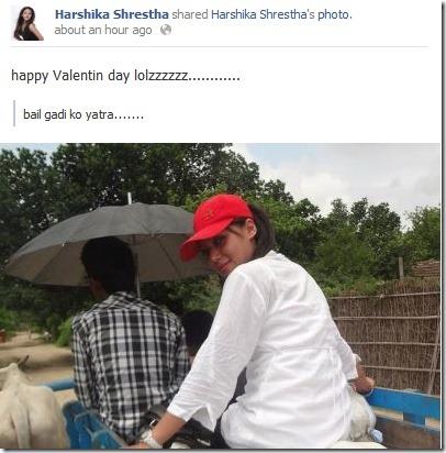 harishka shrestha valentine