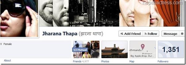 jharana thapa facebook profile