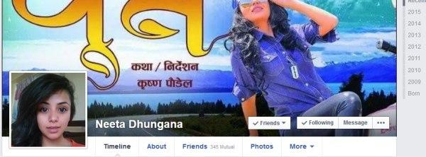 neeta dhungana facebook profile