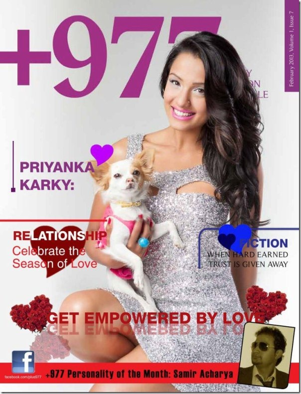 priyanka karki - australia 977 magazine cover