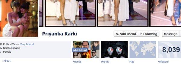 priyanka karki facebook profile