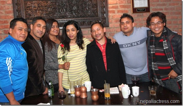 rekha thapa and others valentine day