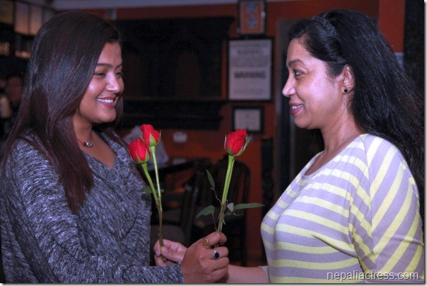 rekha thapa valentine day with mridula koirala