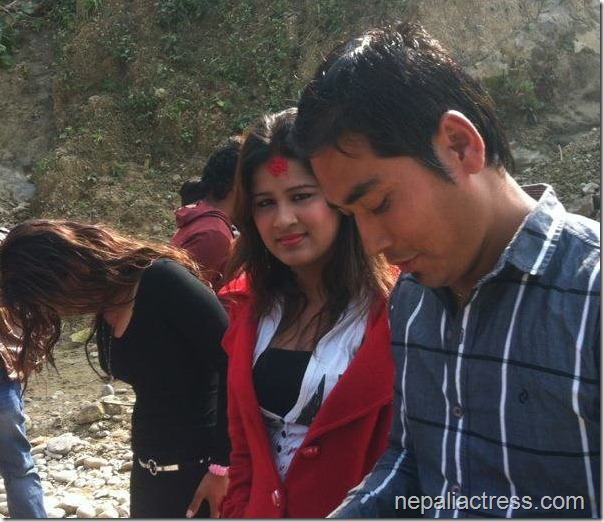 sabina karki in chhal shooting