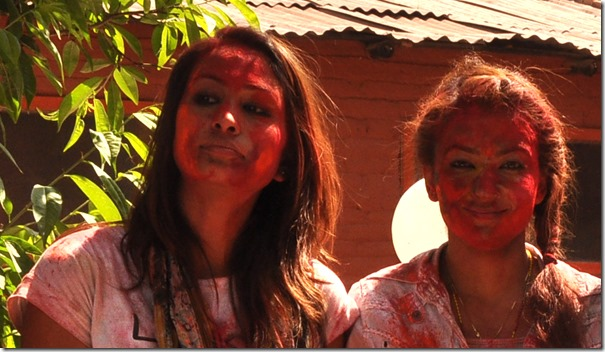Anu and Jharana - holi 2013