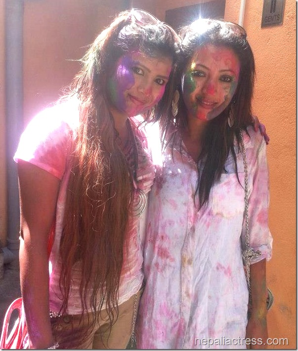 Harshika Shrestha - holi 2013 photos (1)