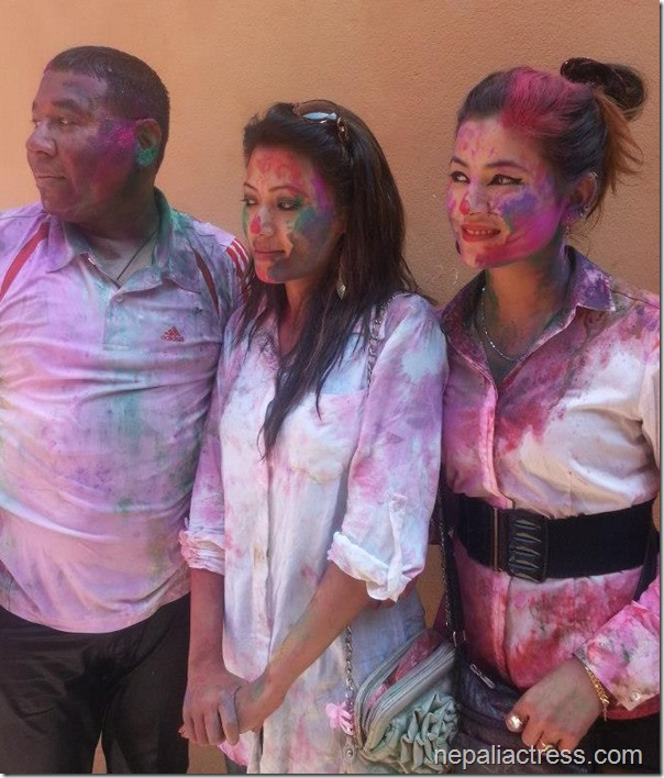 Harshika Shrestha - holi 2013 photos (4)