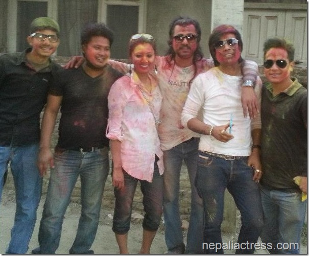 Harshika Shrestha - holi 2013 photos (6)