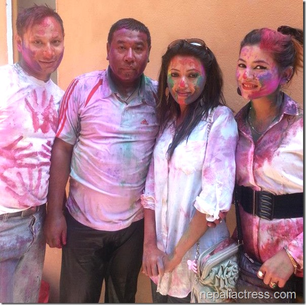 Harshika Shrestha - holi 2013 photos (7)