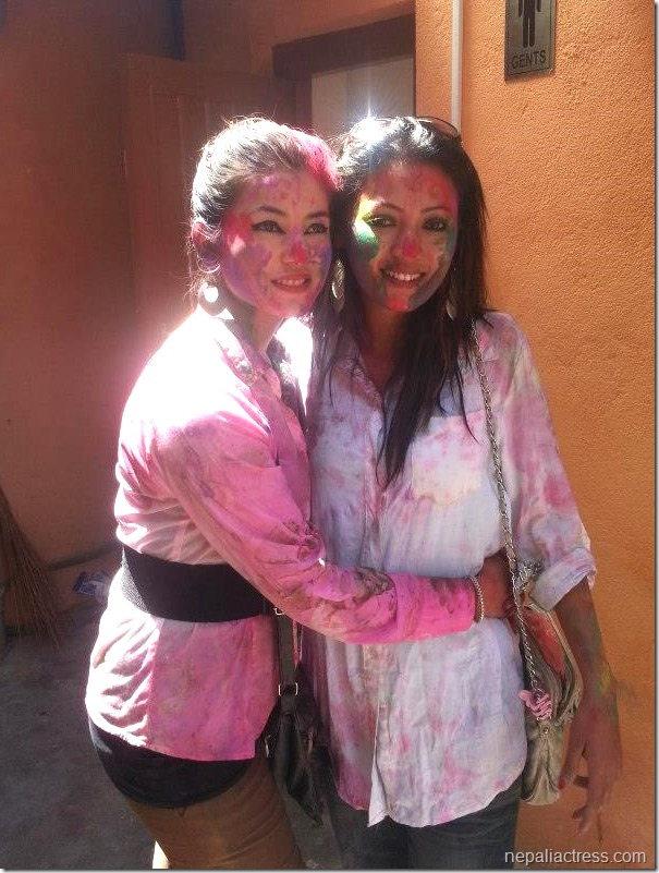 Harshika Shrestha - holi 2013 photos (8)