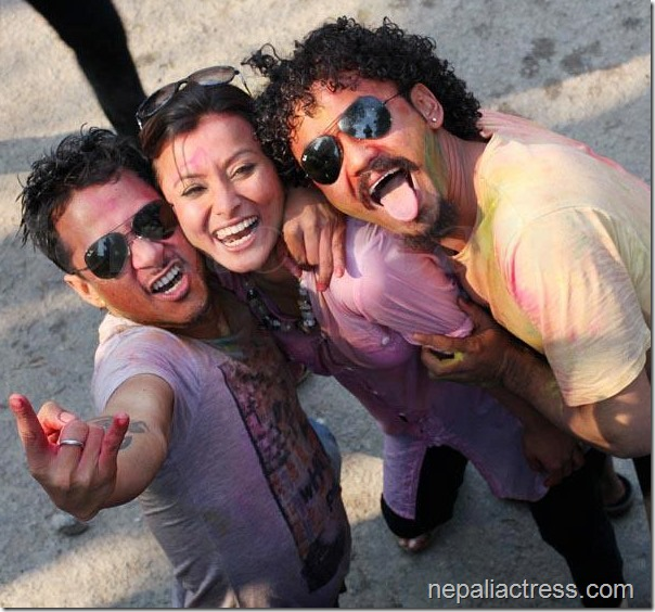 Namrata-Shrestha-raymon Karma -holi 2013 Attic Bar