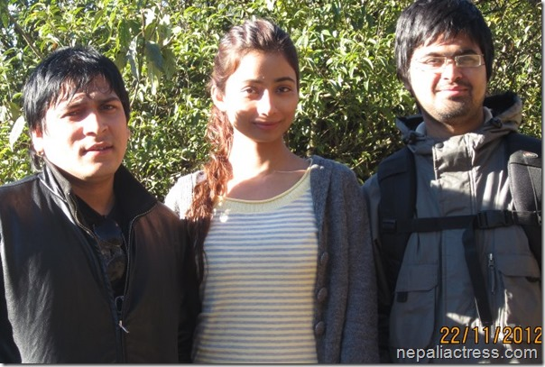 binita with directors saurav dhakal and niranjan pandey