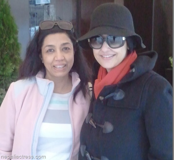 manisha koirala and Mridula koirala in US