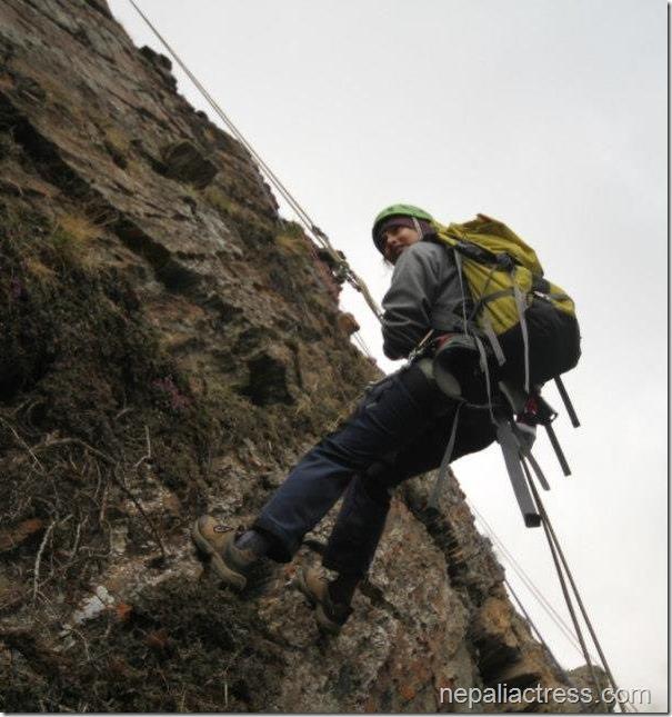 nisha adhikari climbing training