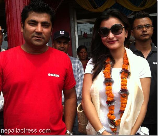 Namrata-Shrestha-Yamaha-Store-of Sunil Rawal