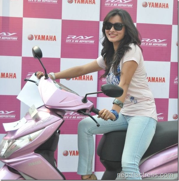 Namrata Shrestha on Yamaha-Ray