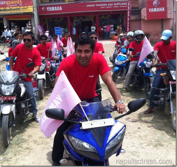 Sunil rawal in his yamaha store opening