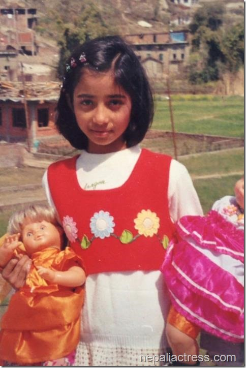 binita baral - childhood photo dolls