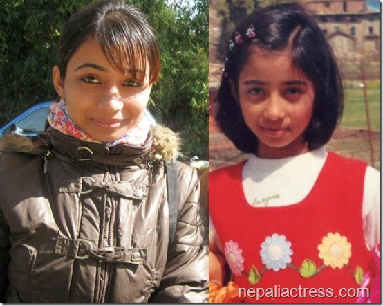 binita baral compared childhood and now
