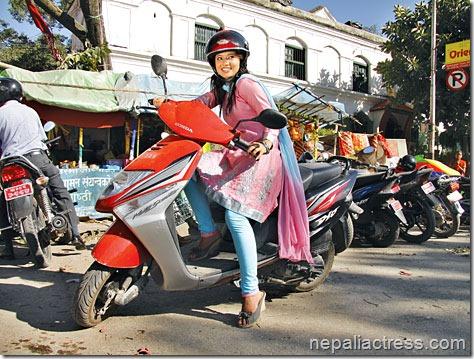 keki adhikari_scooter