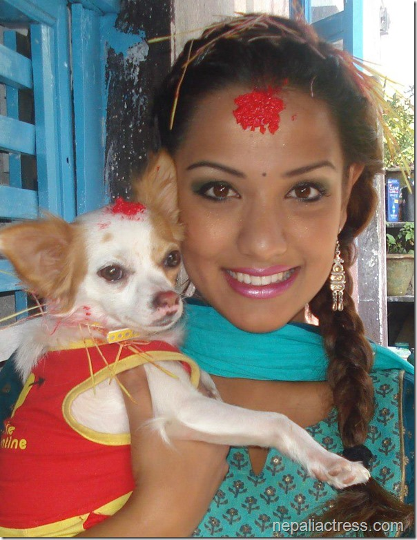 priyanka karki with dog