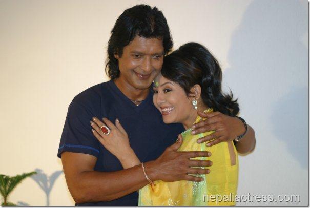 karishma with rajesh hamal ho