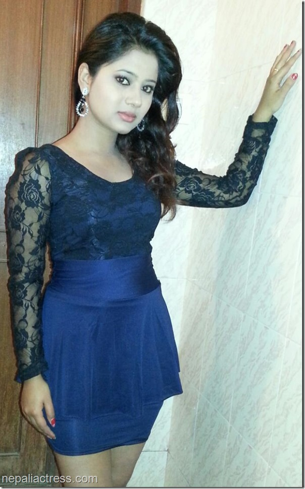 keki adhikari blue sexy dress for summer