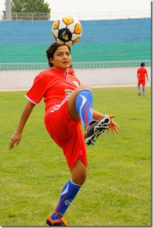 rekha football action