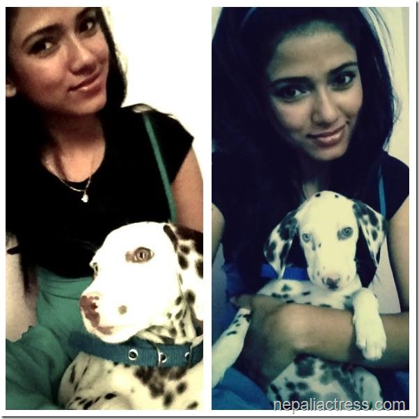 surabhi with britney her puppy