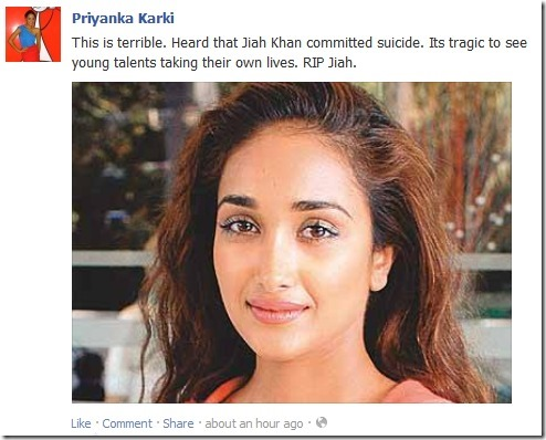 priyanka karki - shocked jiya death