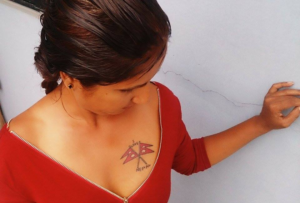 Shubhechha-Thapa-Tattoo on chest