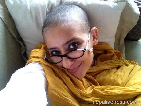 bald head manisha koirala