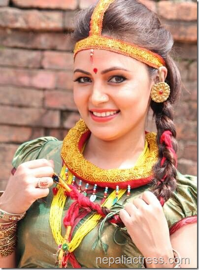 nandita kc traditional dress