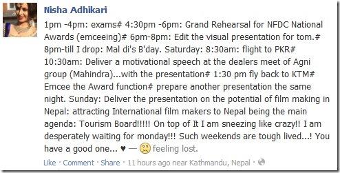 nisha adhikari busy busy