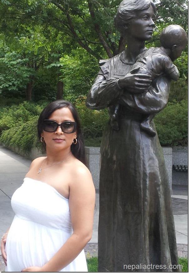 saranga shrestha - pregnant