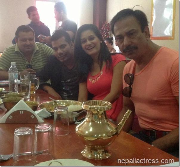 Reema bishowkarma with bhuwan kc and others