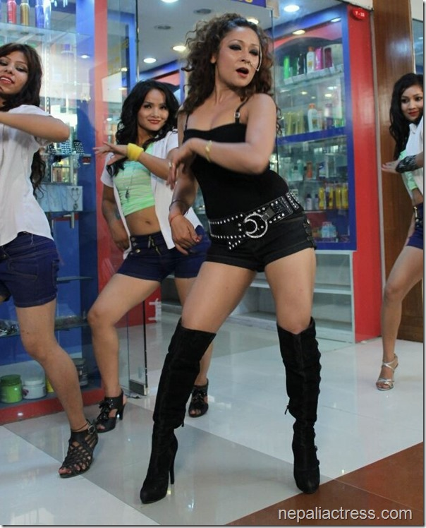 miss nepal shooting dance
