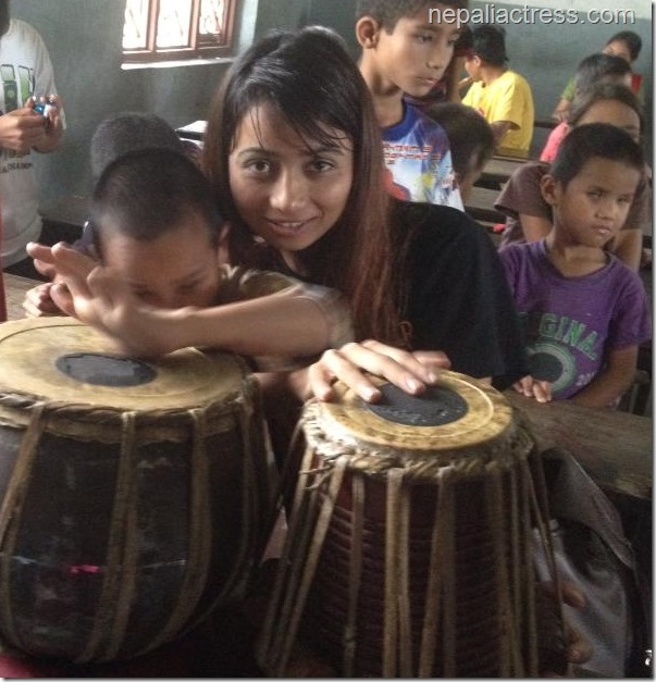 Binita Baral with disable children (7)