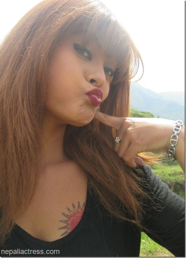 Sushma Karki - kiss - tattoo