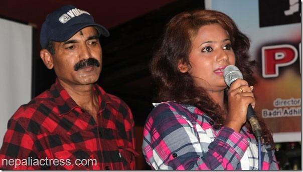 badri adhikari with keki adhikari