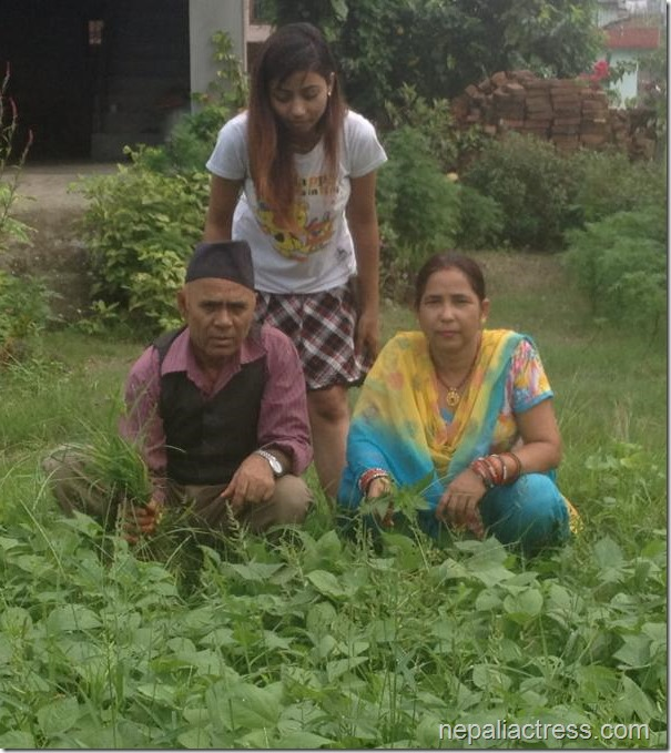 binita baral fathers day (2)