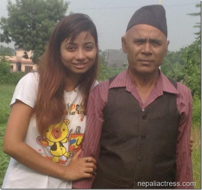 binita baral fathers day (3)