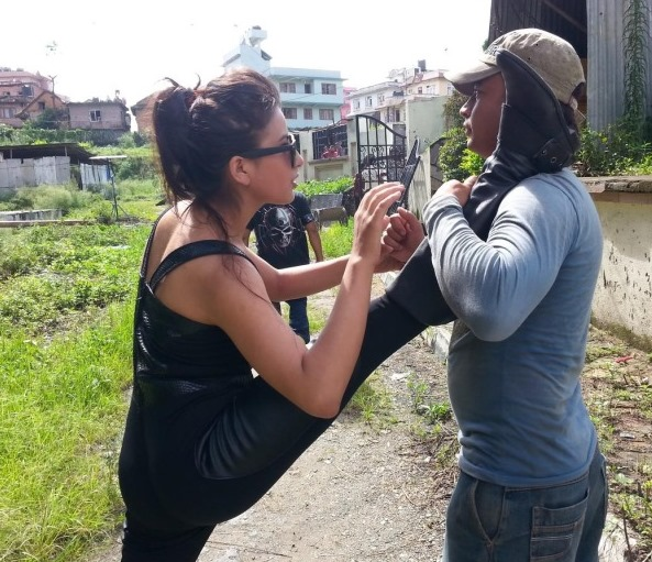 hema preparing for shooting hasiya
