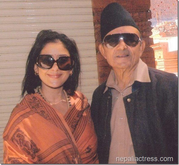 manisha koirala with her father prakash koirala