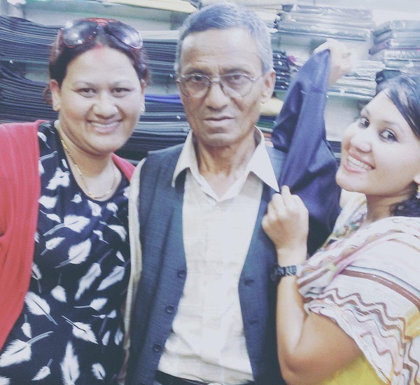 model tirsana budhathoki with parents